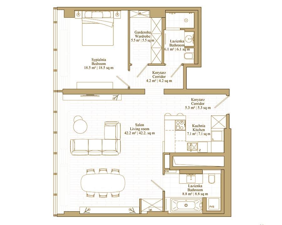 Apartament Just Single