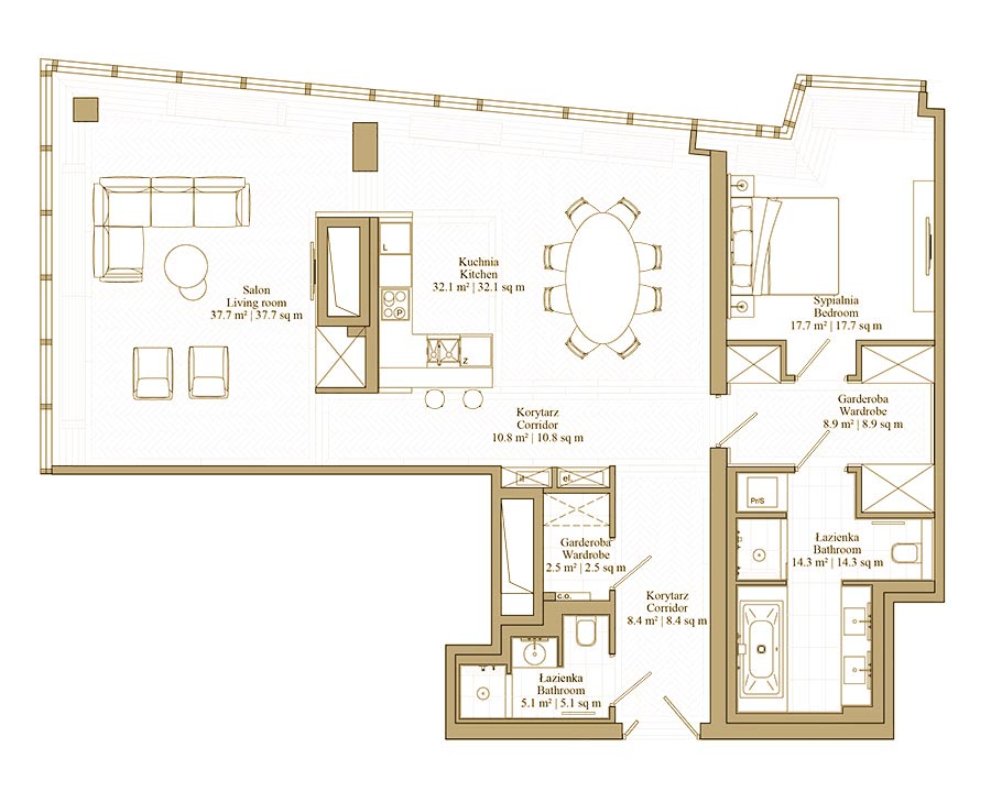 Apartament by Oskar Zięta